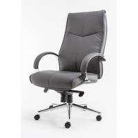 Alphason Verona Leather Executive Office Chair AOC1019GRY