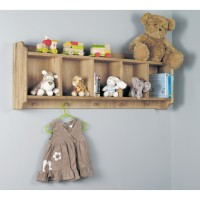 Wall Shelf with Hanging Pegs Baumhaus Amelie Childrens Oak CCO01A