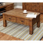Coffee Table 4 Drawer Baumhaus Heyford Rough Sawn Oak CRS08D