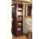 Tall Narrow Bookcase Baumhaus La Roque Mahogany Bookcase IMR01C