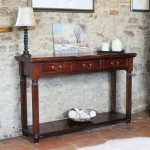 Console Table Baumhaus La Roque Mahogany Hall Table IMR02C