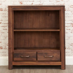 Baumhaus Mayan Solid Walnut Low Bookcase CWC01B