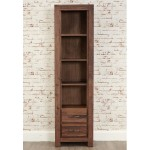 Baumhaus Mayan Solid Walnut Narrow Bookcase CWC01F