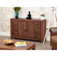 Baumhaus Mayan Solid Walnut Six Drawer Sideboard CWC02A