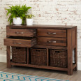 Console Table Solid Walnut Mayan CWC02D by Baumhaus