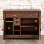 Baumhaus Mayan Solid Walnut Hidden Home Office CWC06A