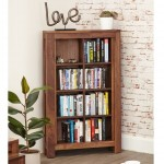 Baumhaus Mayan Solid Walnut Open DVD / CD Storage Cabinet CWC17A