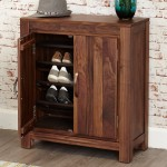Baumhaus Mayan Solid Walnut Shoe Cupboard CWC20A