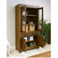 Baumhaus Mayan Solid Walnut Large Glazed Bookcase CWC01D