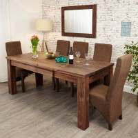Dining Tables - Baumhaus Mayan Walnut Extending Dining Table CWC04A