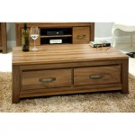 Baumhaus Mayan Solid Walnut Four Drawer Coffee Table CWC08B