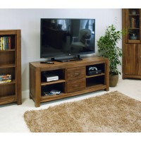 Baumhaus Mayan Solid Walnut Widescreen TV Cabinet CWC09B