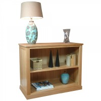 Baumhaus Mobel Solid Oak Low Bookcase COR01B