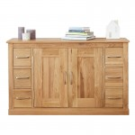 Baumhaus Mobel Solid Oak Six Drawer Sideboard COR02B