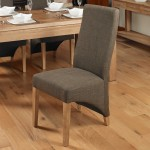 Dining Chair - Pair of Baumhaus Hazelnut Linen Fabric Dining Chairs COR03C