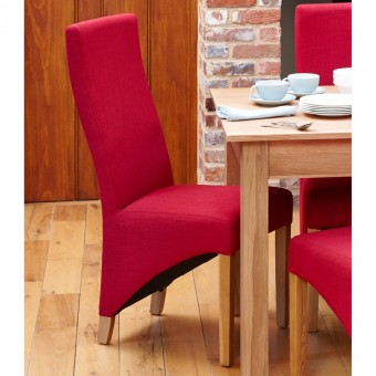 Dining Chair - Pair of Baumhaus Berry Fabric Dining Chairs COR03I