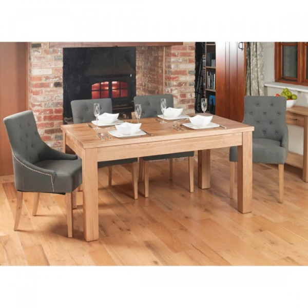 Dining Tables - Mobel Extending Oak Dining Table (4-8 Seater) COR04E
