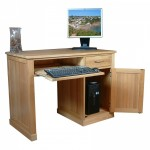 Baumhaus Mobel Solid Oak Single Pedestal Computer Desk COR06B