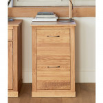 Baumhaus Mobel Solid Oak 2 Drawer Filing Cabinet COR07A