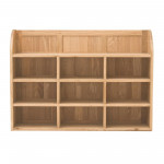 Baumhaus Mobel Solid Oak Reversible Wall Rack COR07B