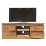 TV Cabinet Oak Mobel Widescreen TV Unit COR09B by Baumhaus