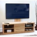 Oak TV Cabinet with Bracket Mobel TV Unit COR09E by Baumhaus