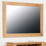 Baumhaus Mobel Solid Oak Medium Wall Mirror COR16B