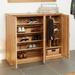 Baumhaus Mobel Solid Oak Extra Large Shoe Cupboard COR20F