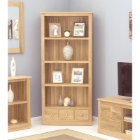 Baumhaus Mobel Solid Oak Large 3 Drawer Bookcase COR01A