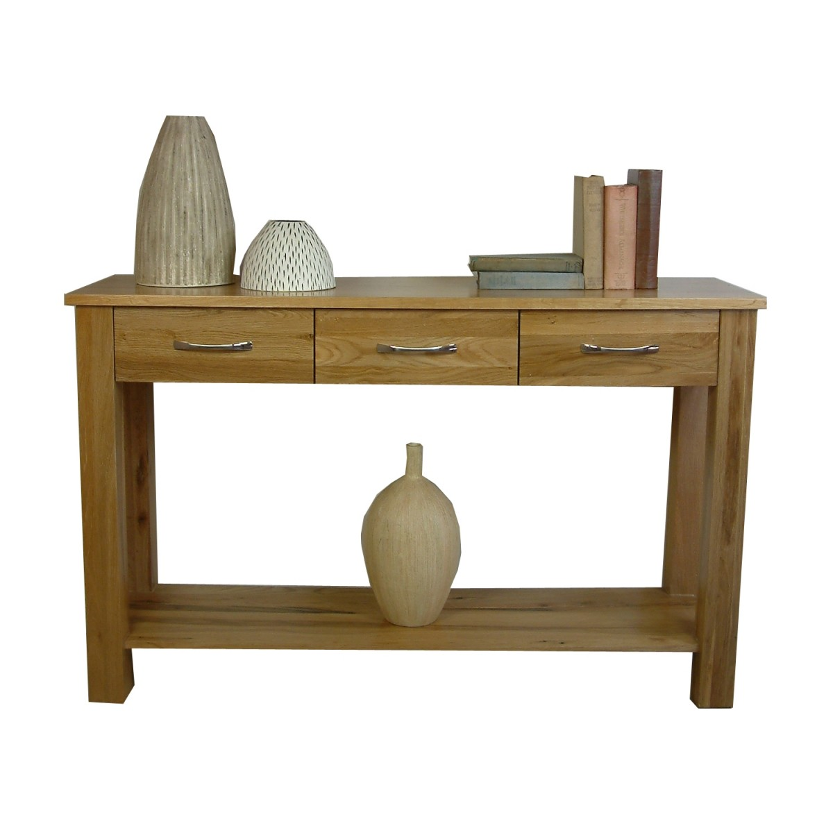 baumhaus mobel solid oak console table cor02c baumhaus mobel solid oak
