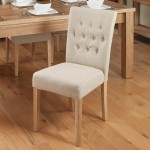Dining Chair - Pair of Baumhaus Biscuit Linen Fabric Dining Chairs COR03D