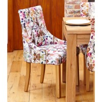 Dining Chair - Pair of Baumhaus Modena Fabric Dining Chairs COR03G