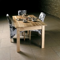 Baumhaus Mobel Solid Oak 150cm Dining Table (4-6 Seater) COR04B