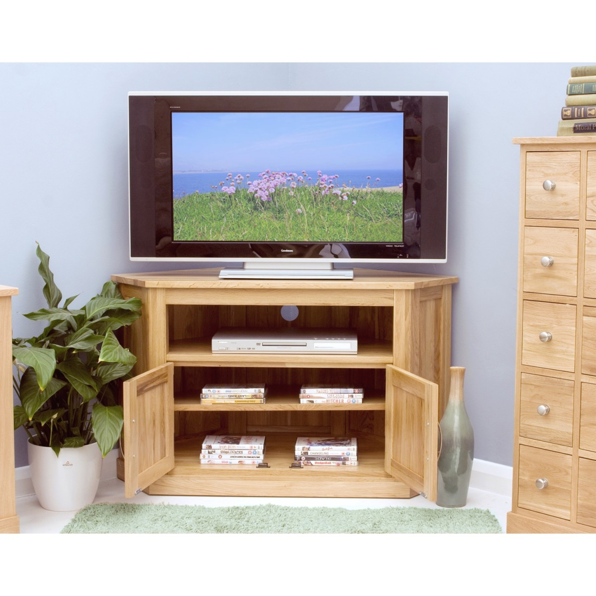 baumhaus mobel solid oak corner baumhaus mobel solid oak corner tv cabinet cor09c aston solid oak wall mirror