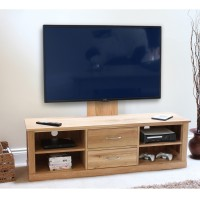 Baumhaus Mobel Solid Oak Mounted Widescreen TV Cabinet COR09E