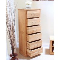 Bedroom Chests - Mobel Solid Oak 6 Drawer Chest of Drawers COR12A