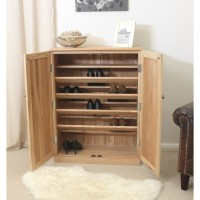 Baumhaus Mobel Solid Oak Large Shoe Cupboard COR20D
