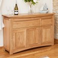 Sideboards - Roscoe Oak Large Sideboard Cupboard CNS02B by Baumhaus