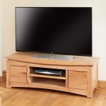 TV Stand - Roscoe Oak Wide TV Cabinet CNS09B by Baumhaus