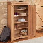 Shoe Cupboard - Roscoe Oak Shoe Storage Cupboard CNS20A by Baumhaus