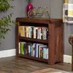Bookcase Low Baumhaus Shiro Walnut CDR01B