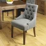 Dining Chair - Pair of Baumhaus Slate Grey Accent Chairs CDR03F