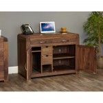 Baumhaus Shiro Walnut Hidden Home Office CDR06A