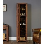 Shoe Storage Cupboard Tall Baumhaus Shiro Walnut CDR20E