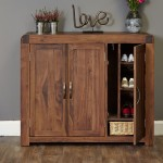 Shoe Storage Cupboard Extra Large Baumhaus Shiro Walnut CDR20F