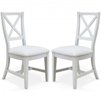 Dining Chair - Pair of Signature Grey Dining Chair CFF03C by Baumhaus