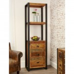 Bookcases - Urban Chic Narrow Bookcase with Drawers IRF01D by Baumhaus