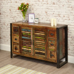 Sideboards - Urban Chic 6 Drawer Sideboard IRF02B by Baumhaus