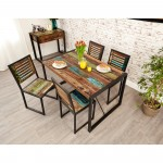 Baumhaus Urban Chic Small Dining Table with 4 Dining Chairs