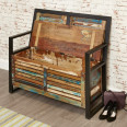 Shoe Storage - Urban Chic Monks Bench Storage Bench IRF20B by Baumhaus